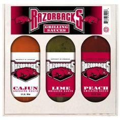 Arkansas Razorbacks NCAA Grilling Gift Set (12oz Cajun, 12oz Lime, 12oz Peach) $22.01