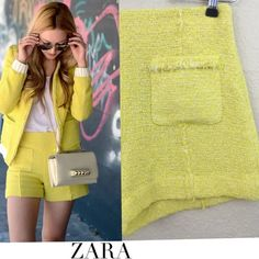 Zara yellow shorts Zara yellow high waisted shorts. Great pre loved condition no stains or holes size small Zara Shorts