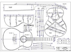 Guitar blueprints