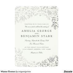 Winter Flowers Card