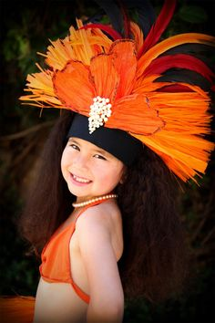 Tahitian dance costume
