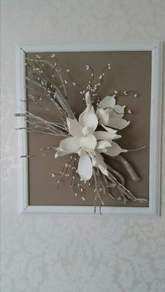Caught some dry branches, no one thought what he would use Bid . Home Design : Caught some dry branches, no one thought what he would use Bid . Art Floral, Deco Floral, Floral Design, Art Diy, Diy Wall Art, Rama Seca, Branch Decor, Frame Crafts, Home And Deco