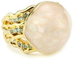 """Disney Couture """"Little Mermaid"""" Pink Shell Ring With Faux Pearl"""