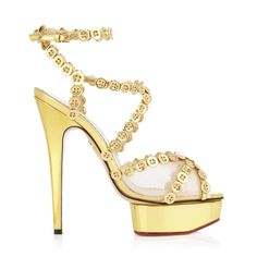 Charlotte olympia Button Up Isadora in Gold