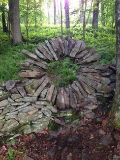 interesting stone wall