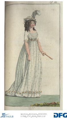 Sprigged gown 1797. Journal des Luxus