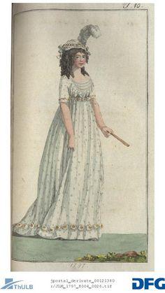 Sprigged gown 1797. Journal des Luxus