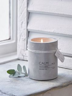CALMCandle - Eucalyptus & Mint #nordichouse #concrete #candle #stockingfillers