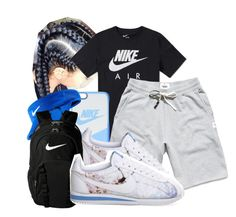 """""""21 Way:// 21 Savage """" by shamyadanyel ❤ liked on Polyvore featuring NIKE and Reigning Champ"""