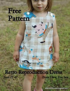 Retro Reproduction Dress FREE Pattern and Tutorial - I Sew, You Sew