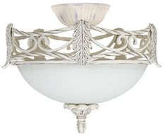 Acanthus Leaf Etched Glass Ceiling Fan Light Kit