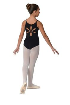 5d4300165fd11 Danshuz Flower Back Leotard Flower Cut Out, Black Leotard, Baby Ballerina,  La Dance. Bella Dance Couture
