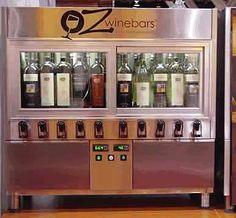 wine dispenser in a refrigerator