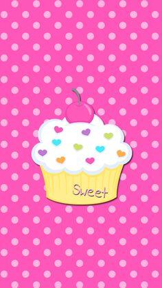 Pretty Cupcake Wallpaper.