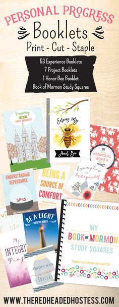 Personal Progress booklet! These are so amazing! Printable books for every value experience and project! They totally focus on the purpose of each experience. Girls will love these!!