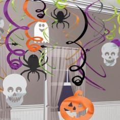 30 pièces décoration découpages et tourbillons - Halloween - fantôme, araignée, citrouille: Amazon.fr: Jeux et Jouets