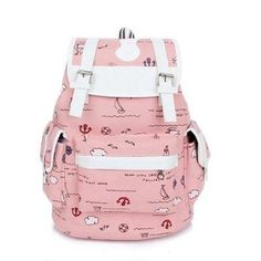 Back-To-School Fashion Multipocketed Backpack 4 Colors. School Bags For GirlsGirls  BagsCanvas ... a940f1eade