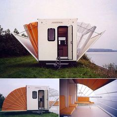 Architect Eduard Böhtlingk designed an extendable campervan…  See more photos here: http://www.ignant.de/?p=135825