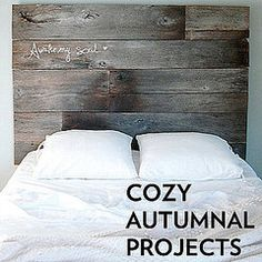 i want to make a headboard like this! love it!