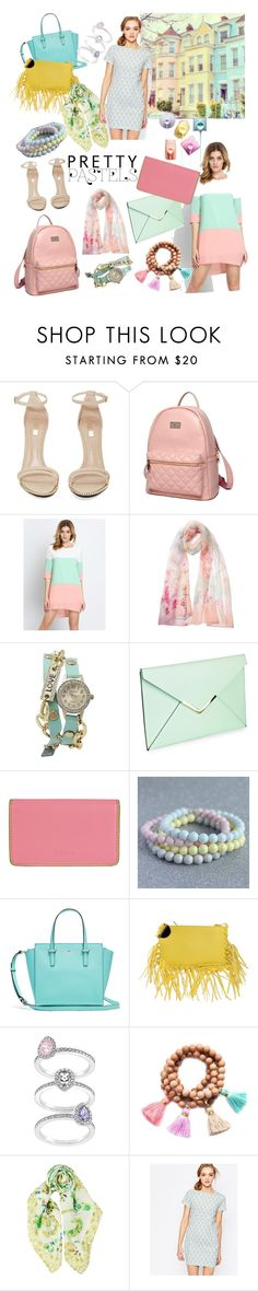 """WHISPER PASTELS!!!"" by kskafida ❤ liked on Polyvore featuring Jeffrey Campbell, Princess Carousel, Laura Biagiotti, Geneva, Lodis, Corrine Smith Design, Annarita N., Swarovski, Gold & Gray and Sugarhill Boutique"