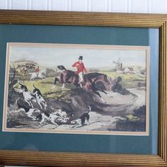 Vintage Framed Print The Death by W Shayers English Men Fox | MollyFinds Vintage Man Decor