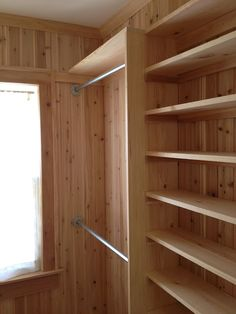 note :: exposed cedar closets could be a consideration, either fully lined or partially lined