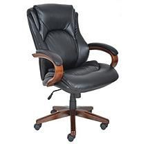 Lane - Big & Tall Bonded Leather Executive Chair - Black