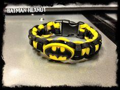 batman paracord bracelet | Batman paracord bracelet with hexnuts by TacticalBlackRDS on Etsy