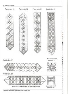 bobbin lace making patterns for beginners Bobbin Lacemaking, Parchment Cards, Bobbin Lace Patterns, Lace Embroidery, Lace Making, Hobbies And Crafts, Bookmarks, Tatting, Weaving