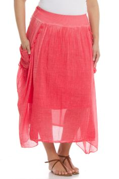 Zer Otantik Etek Skirt in Coral - Beyond the Rack