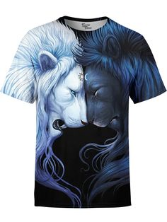 Brotherhood Lion T-Shirt by JoJoes Art Cheap T Shirts, Cool T Shirts, Lion Shirt, Best T Shirt Designs, Casual Shorts, T Shirts For Women, Animal, Clothes, Collection