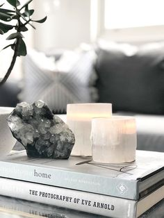 Selenite Candle Holders — Harper + Wilde Best Picture For concrete candle holders For Your Taste You are looking for something, and it is going to tell you exactly what you are looking for, and you di Home Interior, Interior Styling, Interior Decorating, Interior Design, Cottage Decorating, Interior Plants, Coffee Table Styling, Decorating Coffee Tables, Home Decor Accessories