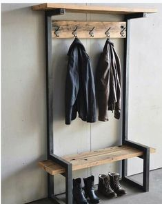 Give Your Rooms Some Spark With These Easy Vintage Industrial Furniture and Design Tips Do you love vintage industrial design and wish that you could turn your home-decorating visions into gorgeous reality? Steel Furniture, Diy Furniture, Furniture Design, Furniture Stores, Furniture Plans, Metallic Furniture, Glazing Furniture, Custom Wood Furniture, Hallway Furniture