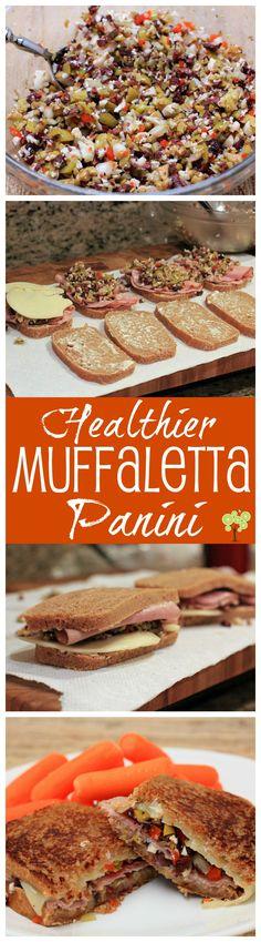 Healthier Muffaletta Panini from EricasRecipes.com