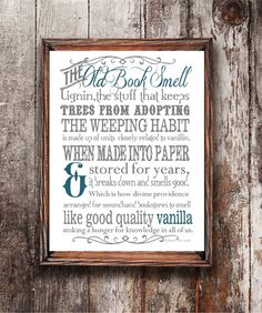 That Old Book Smell by MySouthernAccent on Etsy, $6.00