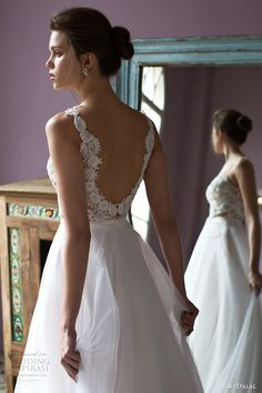 riki dalal bridal 2016 sleeveless plunging sweetheart lace bodice a line wedding dress (1805) zbv sexy romantic vback