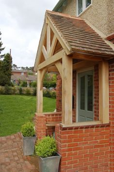 oak porch and roof over bay window uk - Google Search