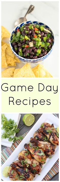 a round-up of healthier game dame recipes!  buffalo chicken, wings, spinach dip, queso, & more!