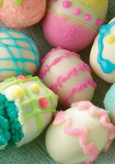 Easter Egg Cake Bites Recipe