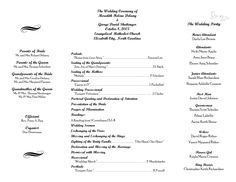 35 Best Printable Wedding Programs Images Printable Wedding