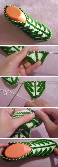 Today we are going to learn to crochet a beautiful slippers and make them in two colors. In this tutorial green and white yarns are used, however I believe there are some other color combinations that are going to work perfectly on this kind of a project. The slippers design somehow looks like there was… Read More Crochet Bicolored Slippers – Tutorial