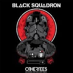 Black Squadron by CappO Shirt on sale until 17 April on http://othertees.com #starwars