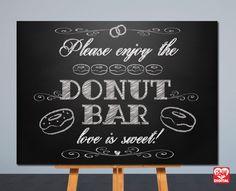 Printable Wedding Sign  Donut Bar  by OhBoyLoveItDigital on Etsy