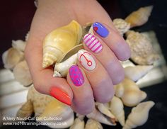 A Very Nauti-Cal Girl Gelish Collection, Nautical Nails.