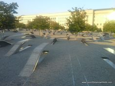 9/11 Pentagon Memorial - beautiful and moving, especially at night