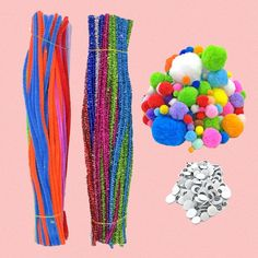 Generic pcs complete kids diy craft supplies kit including chenille stems wiggle googly eyes pom poms for do-it-yourself craft decorations Diy Crafts For Kids, Crafts To Sell, Diy For Kids, Arts And Crafts, Baby Learning Toys, Educational Toys For Toddlers, Craft Decorations, Decor Crafts, Wedding Pom Poms