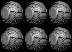 Greeble Pack for Zbrush 4R7
