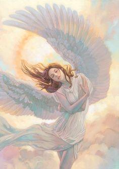 Span Art Gallery on - Fantasy Kunst, Fantasy Art, Art Inspo, Illustration Manga, Renaissance Kunst, Angel Artwork, Angel Pictures, Goddess Art, Aesthetic Art