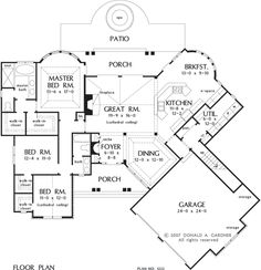I may have already pinned this.  (?)  This is a great house plan by Donald Gardner.  The Sorvino House Plan  Plan# W-1222