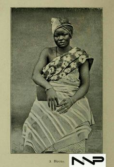#PeopleOfNigeria | 19th century | A Hausa woman in Nigeria | Source: West African studies : with additional chapters byKingsley, Mary Henrietta 1862-1900 Published 1901| in Nigerian Nostalgia Project Nigerian Culture, African Fashion, African Style, 19th Century Fashion, Statue, Black And White, Woman, White Photography, Nostalgia